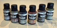 Vallejo Model Wash Set, 6 Washings auf Acrylbasis