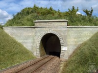 Zierenbergtunnel, H0, graues Material