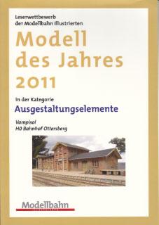 Urkunde Modell des Jahres