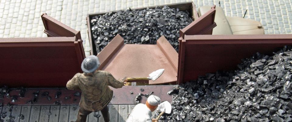 Kohlenverladung mit Rutsche